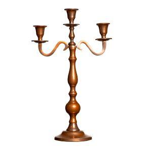 Leuchter dreiarmig Kupfer H40 cm