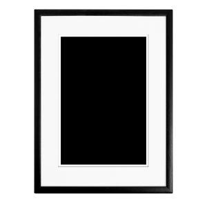 Rahmen Schwarz-Weiß B251 x H153 cm