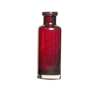 Vase Vintageflasche Rot H22 cm