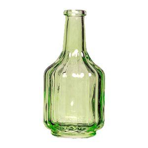 Flasche Grün  gerippt H13 cm