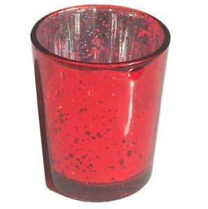 Teelichterhalter Mercury Rot H6,8 cm