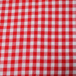 Tischtuch Rot-Weiß B130 x T130 cm