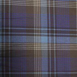 Tischtuch Blau-Braun Karo