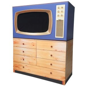 Display Blende RetroTV - Blau