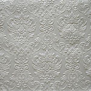 Serviette Ornaments Silber B33 cm