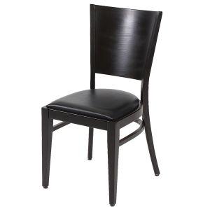 Holzstuhl mit Sitzpolster