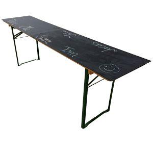 Tisch ABC-Fest B220 x T50 cm