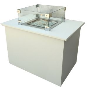 Loungetisch mit Feuerstelle B85 x T60 cm