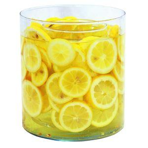 Zylindervase mit Lemonenfüllung D18 cm