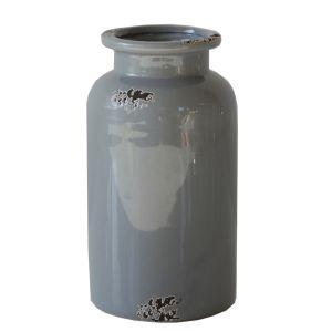 Vase Vintage Grau, Keramik H18 cm