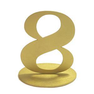 Tischnummer Gold H16 cm