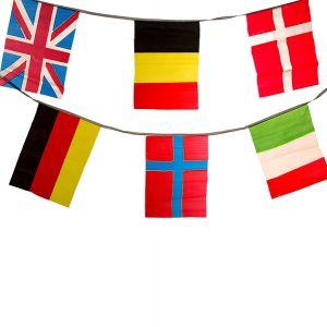 Wimpelkette 4m mit internationalen Flaggen