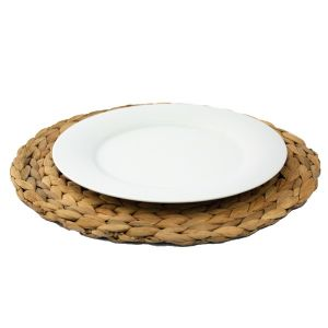 Tellerset aus Platzteller Bast mit Menüteller D26 cm