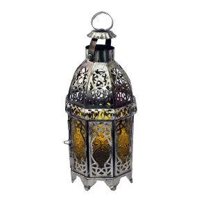 Windlicht Orient Silber H24 x D10 cm