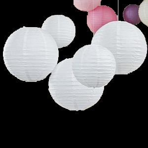 Lampion Weiß D45 cm