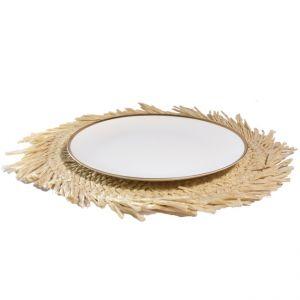 Tellerset Papyrus mit Platzteller Glas Gold