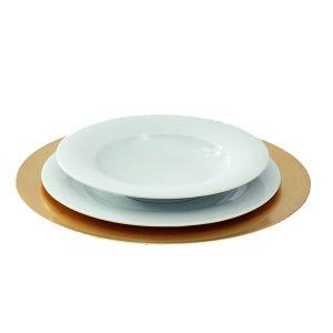Tellerset mit Platzteller Gold, Menüteller, Suppenteller
