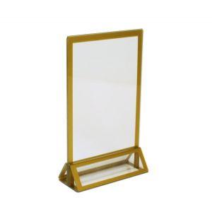 Tischaufsteller Gold H21 cm
