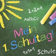 Motivserviette Schulanfang B33 cm