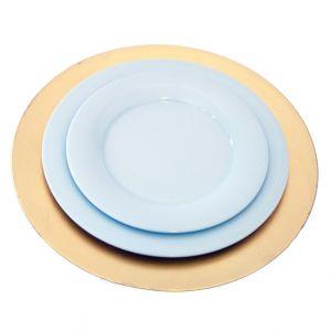 Tellerset mit Platzteller Gold, Menüteller, Vorspeiseteller