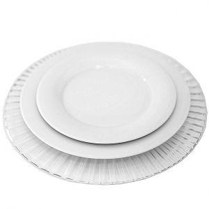 Tellerset aus Platzteller Kristall, Menüteller, Vorspeiseteller