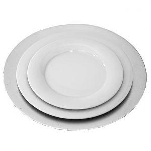 Tellerset mit Platzteller Silber, Menüteller, Vorspeiseteller