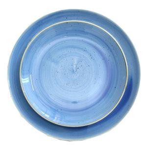 Tellerset Stonecast 2teilig Blau