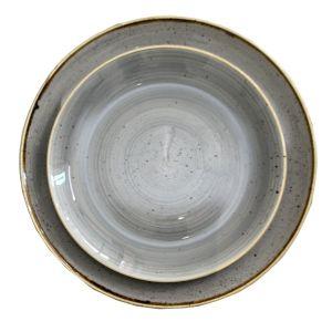 Tellerset Stonecast 2teilig Grau