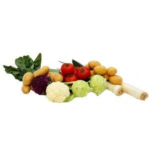 Ladung heimisches Gemüse
