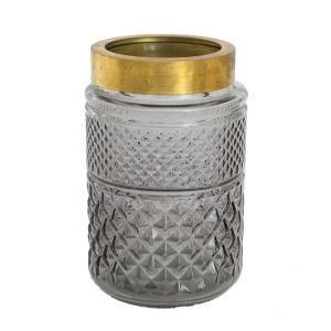 Vase Windlicht Shine Schwarz H19 cm