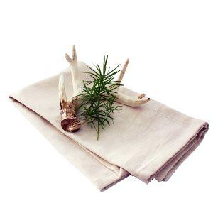 Serviette Stoff Beige mit Geweih und Grün