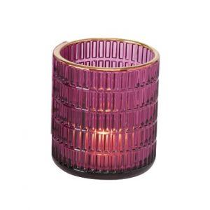 Windlicht Chio Pink H8,5 cm
