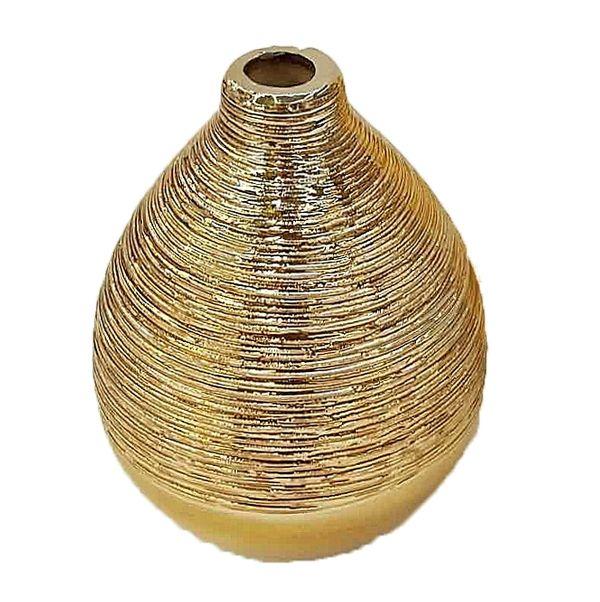 Vase Gold gerillt H11 cm