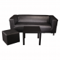 Sofa 3 Sitzer Schwarz