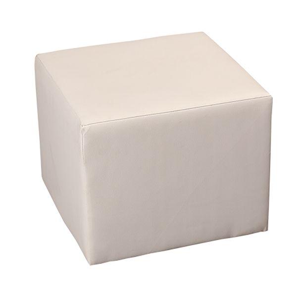 Hocker Weiß B40 x T40 cm