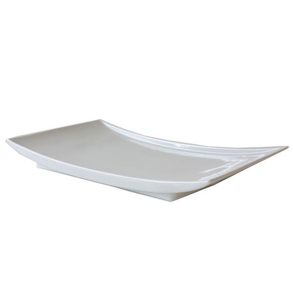 Schale Keramik Weiss B36 x T20 cm
