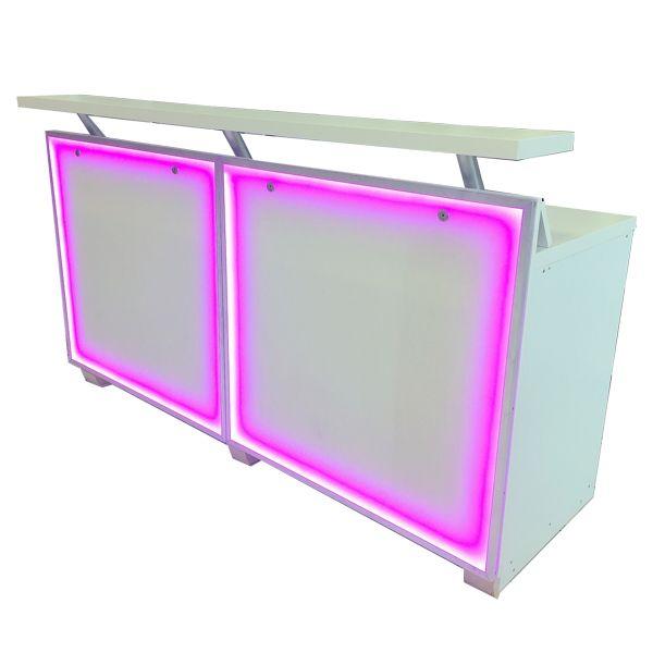 Bar mit Acryl-Glas-Front und LED-Beleuchtung B200 cm