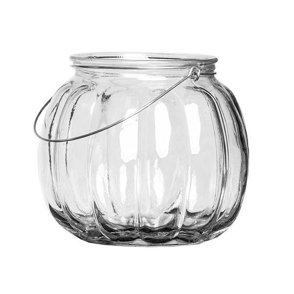 Vase Vintage gerippt D14 cm