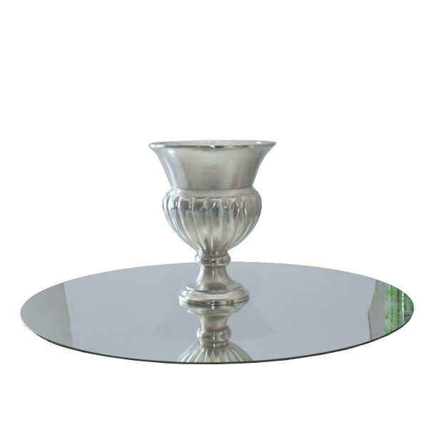 Centerpiece-Set mit Pokal Cäsar H33 cm und Spiegel D80 cm